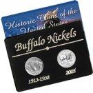 Old and New Buffalo Nickel Set
