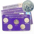2005 Quarter Mania Uncirculated Set - Platinum D Mint