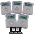 2005 Silver Quarter Proof Set - Certified 70