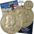 1962 Franklin Half Dollar - Denver - Circulated