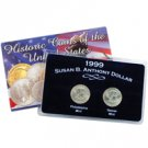 1999 Susan B Anthony Dollar - P and D Mint Uncirculated Set