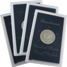 1971 to 1974 Eisenhower Silver Dollars 4pc - PROOFS - Brown Pack
