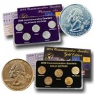 2008 Quarter Mania Precious Metal Set - Gold P / Plat D