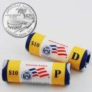 2009 American Samoa Quarters - Government Wrapped - Philadelphia & Denver Mint Roll Pair