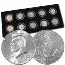 2005-2009 Kennedy Half Dollar 10-Coin Satin Finish Set