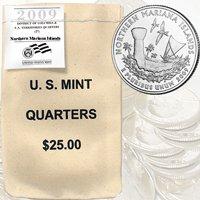 2009 Mariana Islands $ 25 Government Bag P Mint Quarters