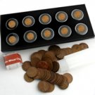 Last Decade of Indian Cents with Bonus Wheat Cent Roll
