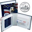 2000 US Mint Licensed Album - Virginia Quarter Roll - Philadelphia
