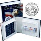 2008 US Mint Licensed Album - Oklahoma Quarter Roll - Denver