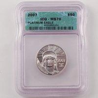 2007 American Eagle $50 Platinum - Certified 70