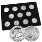 Susan B Anthony Collection 1979 - 81 & 99 - Unc & Proof - 11 coin set