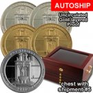 The Best of the America the Beautiful Quarters TM Program - Uncirculated, Gold-layered, & Proof