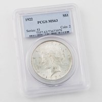 1922 Peace Dollar Certified MS63
