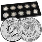 1999 to 2008 Decade of Proof Kennedy Half Dollars