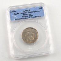2000 South Carolina Quarter - Smooth Edge - Philadelphia Mint