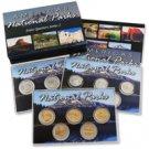 2010 National Parks Quarter Mania Set - P D & Gold
