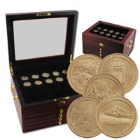 2010 National Parks P & D Goldmine with Collector Display Chest