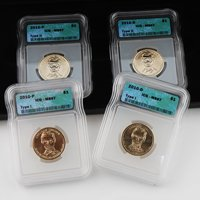 2010 Presidential Dollars Variety Set - 4pc - Abraham Lincoln Certified 67