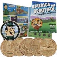 Yogi Bear Quarter Collector Book w/ 24 Karat Gold Quarters
