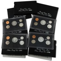 1992 to 1998 Silver Proof Sets