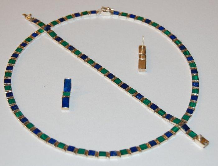Lapislazuli  Malachite Set