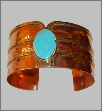 Cupper Turquoise Bangle