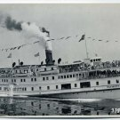Plymouth Sidewheel Passenger Steamship Vintage Real-Photo PC