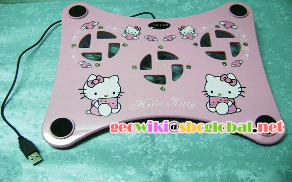 Hello Kitty 3 pcs notebook cooler [Brand New]