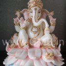 "Beautiful Lord Ganesha Statue on Lotus 12"" - GNS120018"