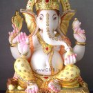 "Bautiful Diamond Studded Ganesha Statue 18"" - GNS18006"