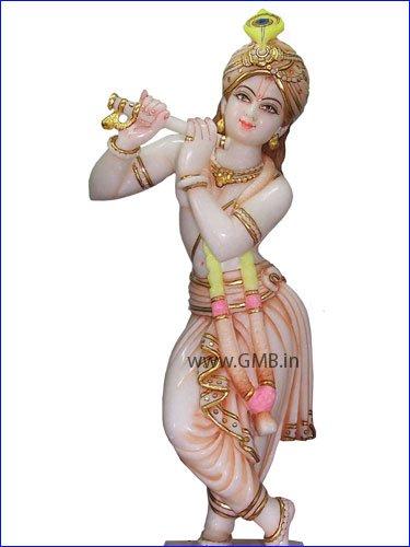 "Beautiful Lord Krishna Statue 18"" KSN18004"