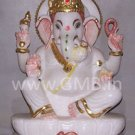 "Marble Statue of Lord Ganesh 09"" - GNS09005"