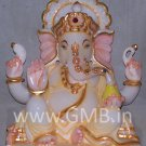 "Marble Statue of Lord Ganesh 09"" - GNS09007"