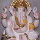 "Marble Statue of Lord Ganesh 09"" - GNS09009"