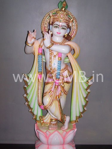 "Beautiful Lord Krishna from Marble 27"" KSN27002"