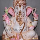 "Marble Ganesh Statue 12"" - GNS120021"