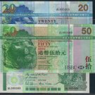UNC Hong Kong HSBC + Standard Chartered Bank TWIN Banknote : 000089 x 3 (Three Brother)