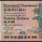 UNC Hong Kong Standard Chartered Bank 1997 HK$20 Banknote : CD 333222