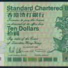UNC Hong Kong Standard Chartered Bank 1991 HK$10 Banknote : FA 333222