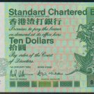 UNC Hong Kong Standard Chartered Bank 1994 HK$10 Banknote : BY 333222
