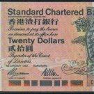 UNC Hong Kong Standard Chartered Bank 1997 HK$20 Banknote : CG 999777