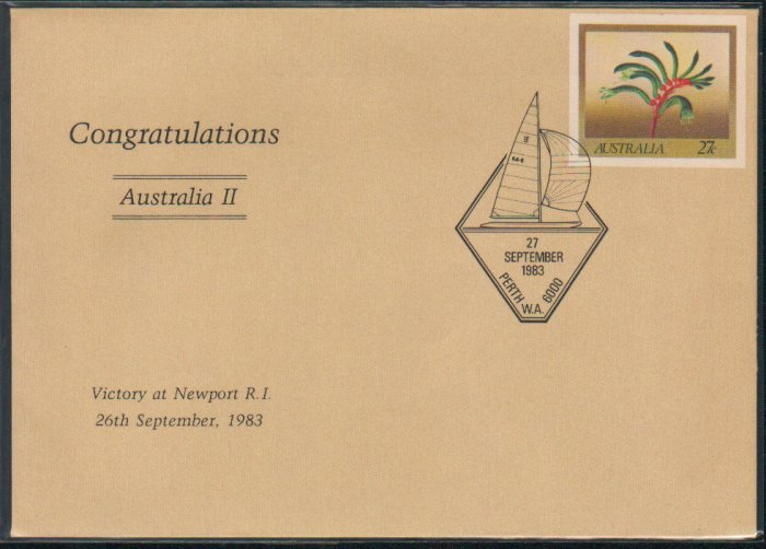 Australia FDC / First Day Cover : Victory at Newport 26 Sep 1983