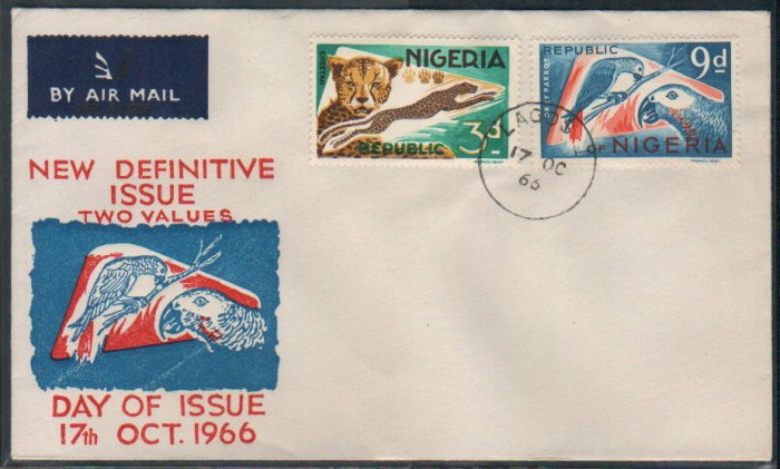 Nigeria FDC / First Day Cover : New Definitive Issue 17 Oct 1966