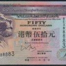 UNC Hong Kong HSBC 2000 HK$50 Banknote : BE 388883