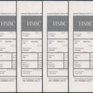 Bank Collectibles + Paper Collectibles - Hong Kong HSBC Bank Instant Deposit Advice x 5 Pieces