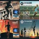 Bank Collectibles : Chase Souvenir Visa Card (in Smaller Size) x 4 Pieces