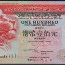 UNC Hong Kong HSBC 2002 HK$100 Banknote : KN 888111