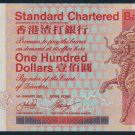 UNC Hong Kong Standard Chartered Bank 2001 HK$100 Banknote : GV 866666