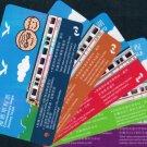 Hong Kong KCR Single Journey Train Ticket : Whole Set