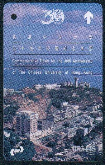 Hong Kong KCR Train Ticket - Chinese University